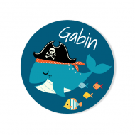 Badge à personnaliser - Pirate Ahoy!