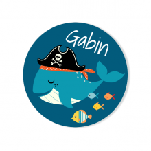 Badge à personnaliser - Pirate Ahoy!