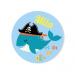 Badge à personnaliser - Pirate Ahoy!. n°2