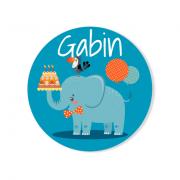 Badge à personnaliser - Jungle Happy Birthday