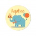 Badge à personnaliser - Jungle Happy Birthday. n°2