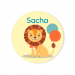 Badge à personnaliser - Jungle Happy Birthday. n°3