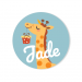 Badge à personnaliser - Girafe Happy Birthday. n°1