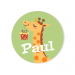 Badge à personnaliser - Girafe Happy Birthday. n°3