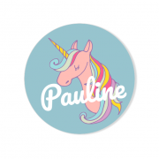 Badge à personnaliser - Licorne Rainbow
