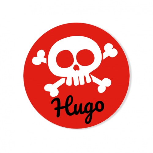Badge à personnaliser - Pirate