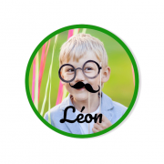 Badge à personnaliser - Photo Garçon
