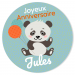 Fotocroc rond à personnaliser - Jungle Happy Birthday. n°3