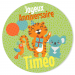 Fotocroc rond à personnaliser - Jungle Happy Birthday. n°4