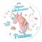 Fotocroc rond à personnaliser - Licorne Rainbow images:#1