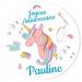 Fotocroc rond à personnaliser - Licorne Rainbow. n°2
