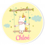 Fotocroc rond à personnaliser - Licorne Baby