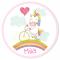 Fotocroc rond à personnaliser - Licorne Baby images:#2