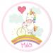 Fotocroc rond à personnaliser - Licorne Baby. n°3