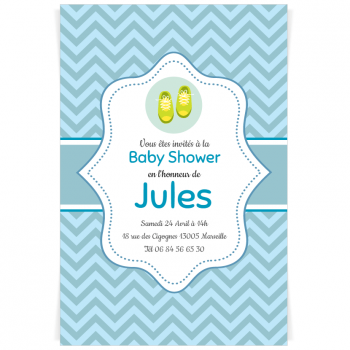 Invitation à personnaliser - Baby Shower Garçon