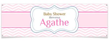 Bannière à personnaliser - Baby Shower Fille