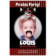 Invitation à personnaliser - Pirate Party Photo