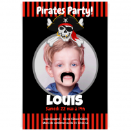 Invitation à personnaliser - Pirate Party Photo