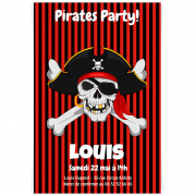 Invitation à personnaliser - Pirate Tête de Mort