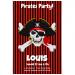 Invitation à personnaliser - Pirate Tête de Mort. n°1
