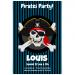 Invitation à personnaliser - Pirate Tête de Mort. n°2