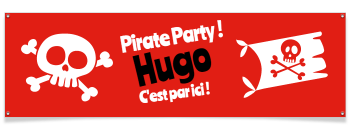 Bannière à personnaliser - Pirate Party