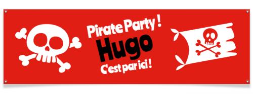 Bannière à personnaliser - Pirate Party