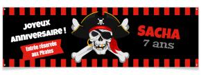 Bannière à personnaliser - Pirate Tête de Mort