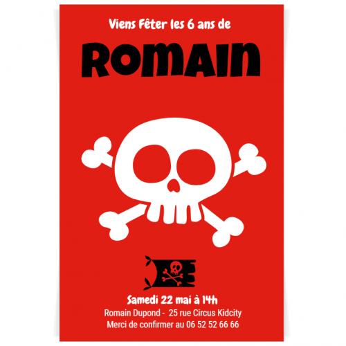 Invitation à personnaliser - Pirate Party