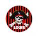 Badge à personnaliser - Pirate Tête de Mort. n°1
