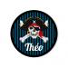 Badge à personnaliser - Pirate Tête de Mort. n°2