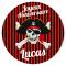 Fotocroc rond à personnaliser - Pirate Tête de Mort images:#0