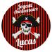 Fotocroc rond à personnaliser - Pirate Tête de Mort. n°1