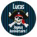 Fotocroc rond à personnaliser - Pirate Tête de Mort. n°2