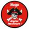 Fotocroc rond à personnaliser - Pirate Tête de Mort images:#2