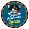Fotocroc rond à personnaliser - Pirate Tête de Mort images:#3