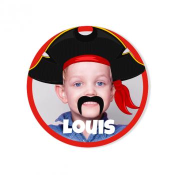 Badge à personnaliser - Pirate Party Photo