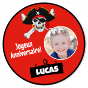 Fotocroc rond à personnaliser - Pirate Party Photo