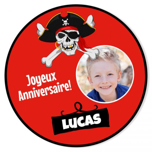 Fotocroc rond à personnaliser - Pirate Party Photo