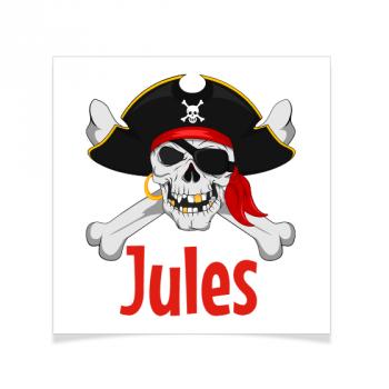 8 Tatouages à personnaliser - Pirate tête de Mort