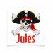8 Tatouages à personnaliser - Pirate tête de Mort. n°1