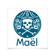 8 Tatouages à personnaliser - Emblème Pirate