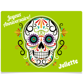 Fotocroc rectangle à personnaliser - Calavera