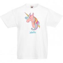 T-shirt à personnaliser - Tête de Licorne