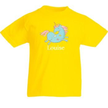 T-shirt à personnaliser - Licorne Bleue