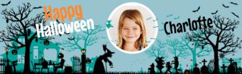 Bannière à personnaliser - Halloween Silhouette Photo