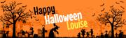 Bannière à personnaliser - Halloween Silhouette
