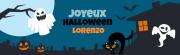 Bannière à personnaliser - Halloween Maison Hantée Jaune