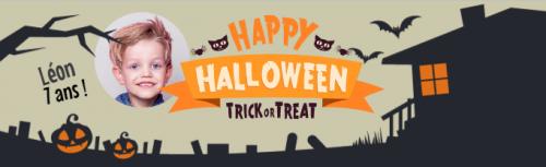 Bannière à personnaliser - Halloween Maison Hantée Photo