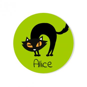 Badge à personnaliser - Chat Noir